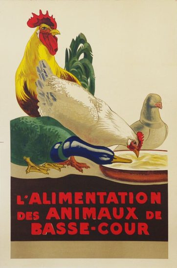 Animal feed poster