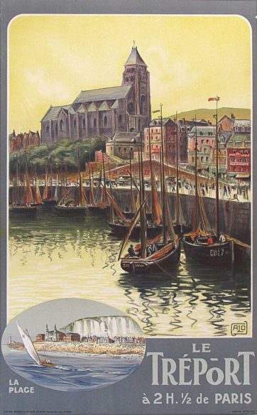 French Travel Poster