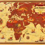 Air France Map (Beige)