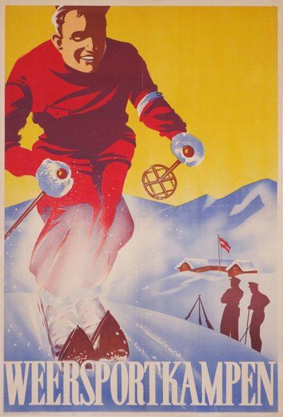Weersportkampen (Nazi ski poster)