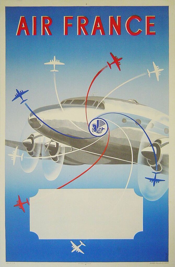 Original Airline Poster