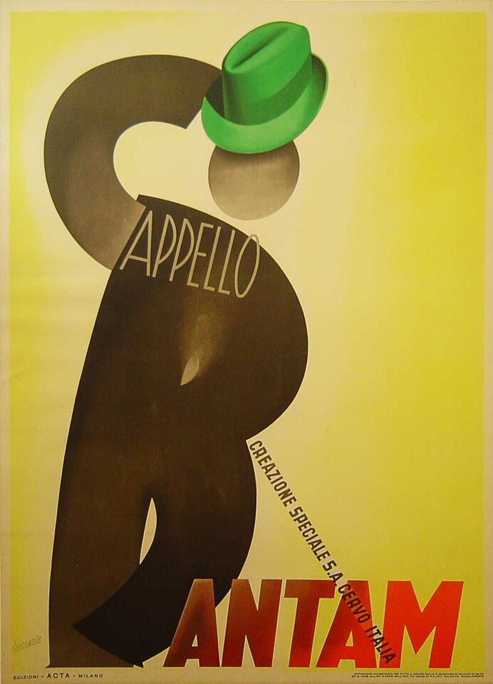 Italian hat poster