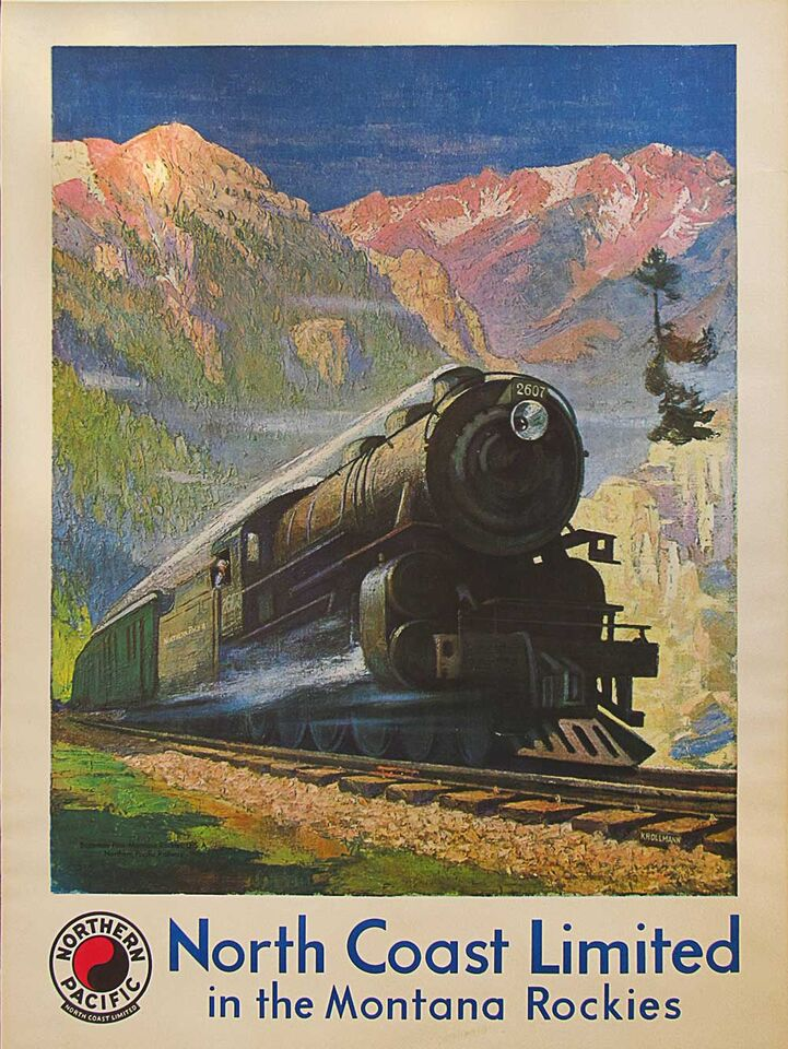 Original North coast limited poster