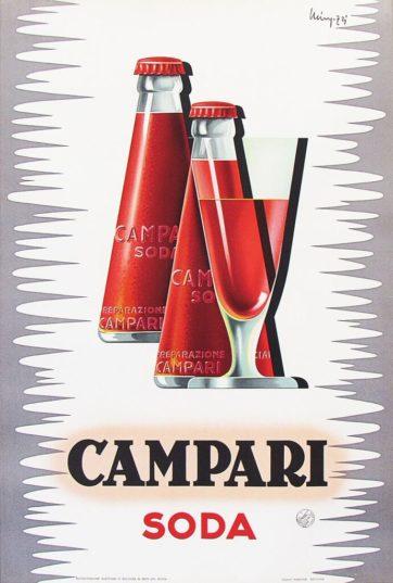 campari soda poster by Mingozzi
