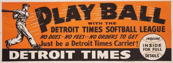 Play Ball Detroit Times