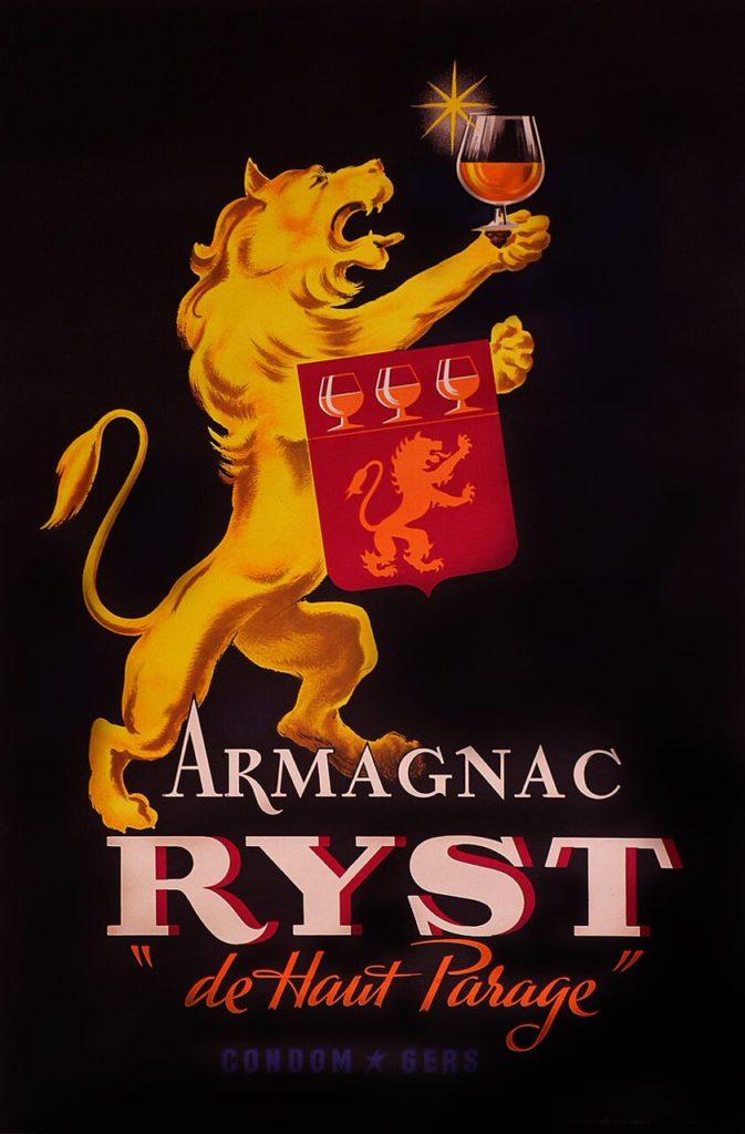original vintage Armagnac ryst poster