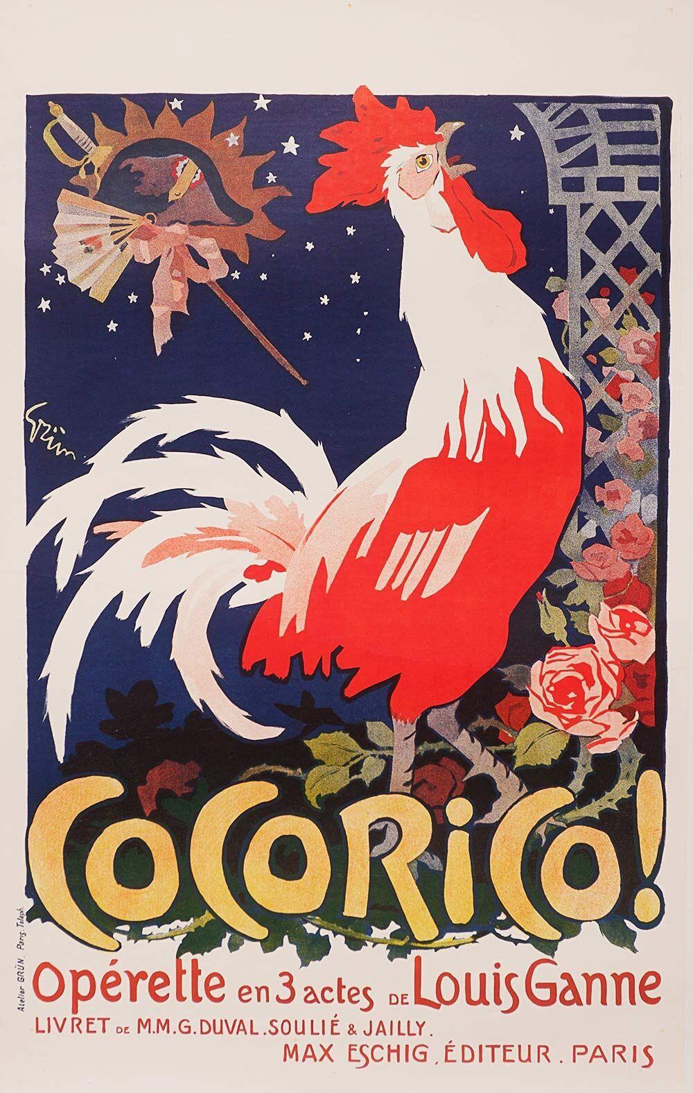 Original Cocorico Poster