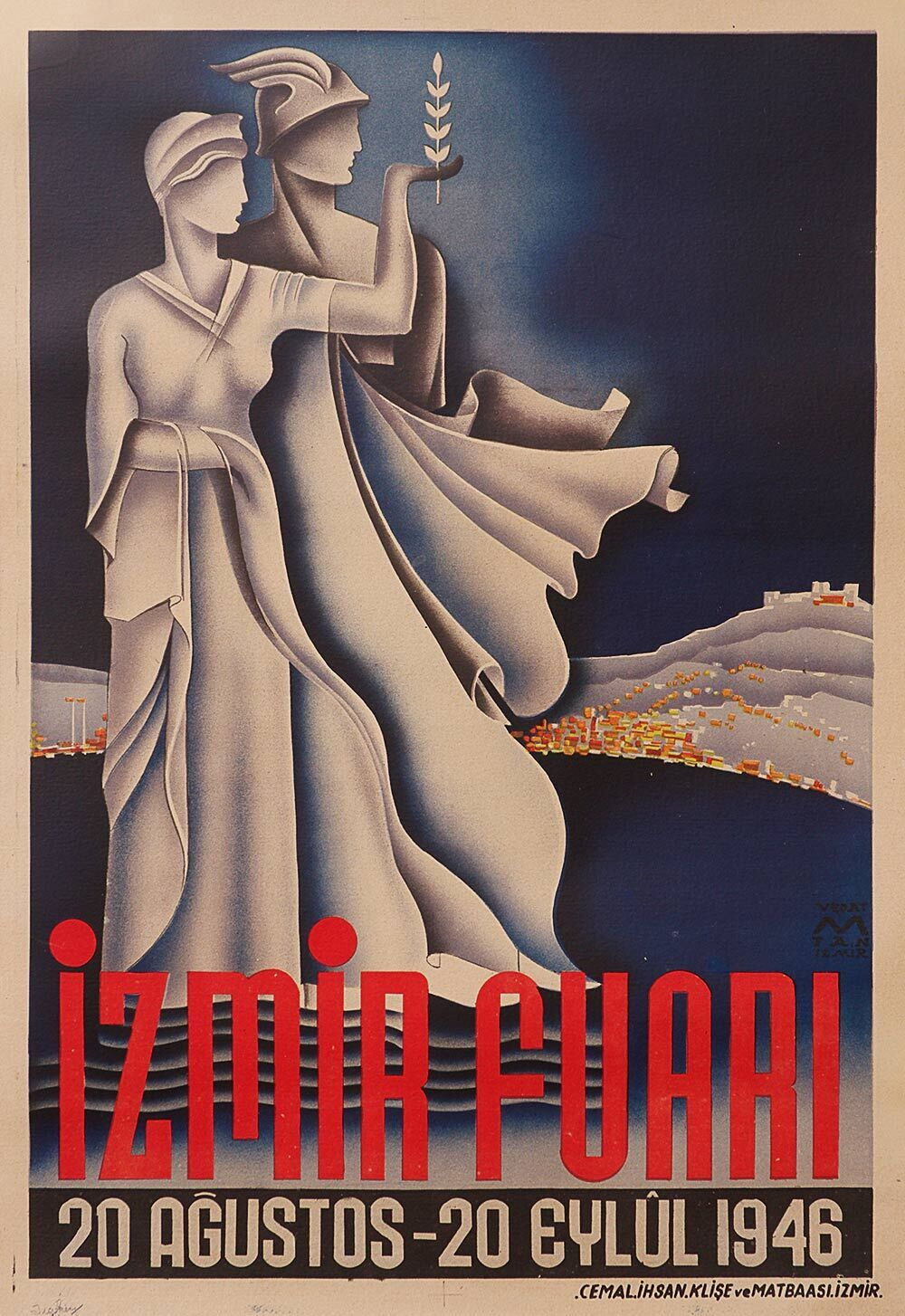 Art Deco vintage travel poster
