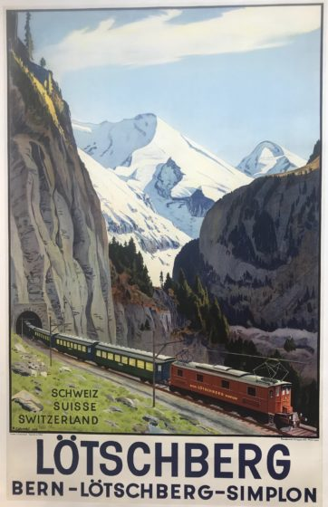 Swiss travel poster