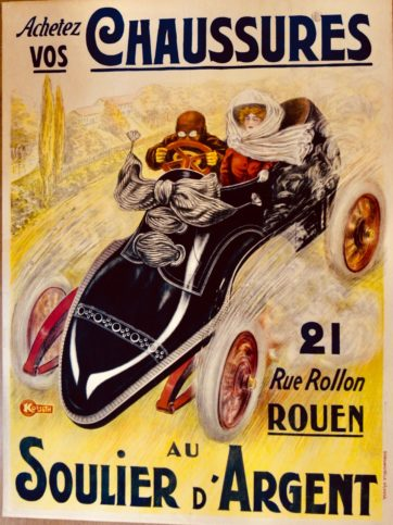 Shoe race car poster