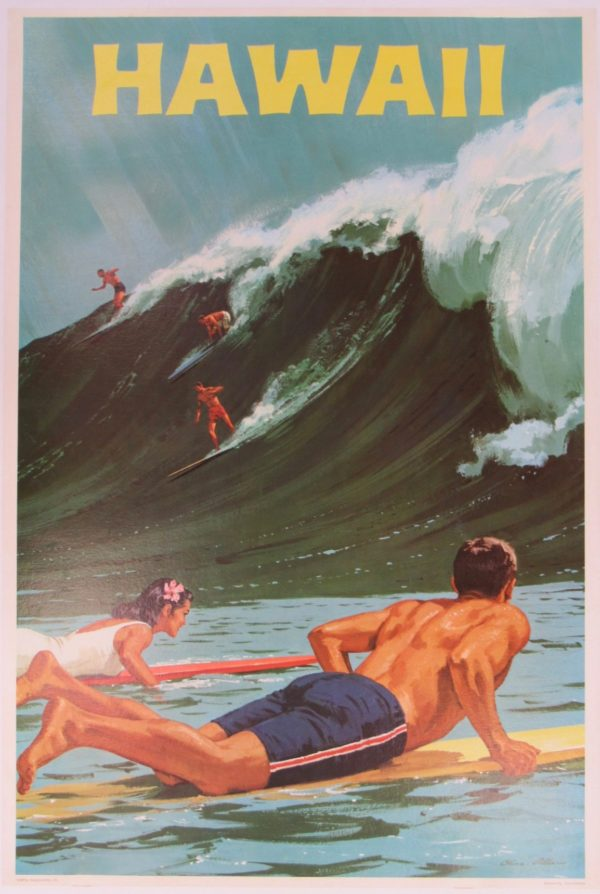 Hawaii surfing poster