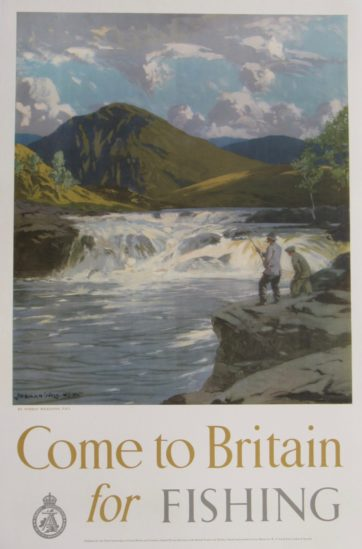 Come to Britain for Fishing Poster
