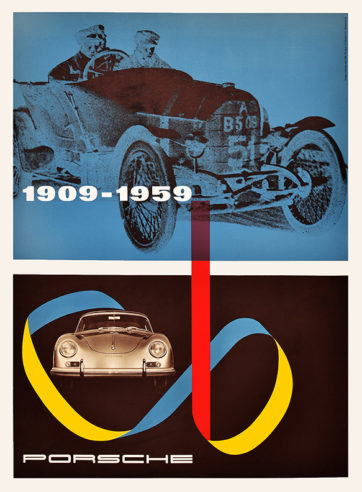 Vintage automobile racing poster