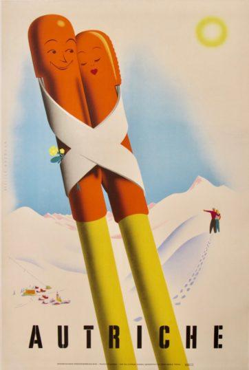 Vintage austrian ski poster