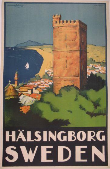 Swedish travel poster